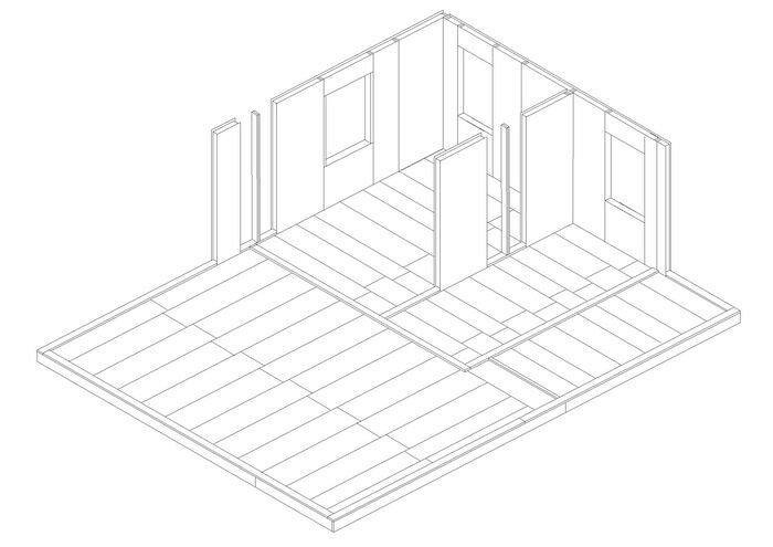 8-1 этап строительства дома.